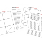 Three New Printables for Your Home Management Notebook!